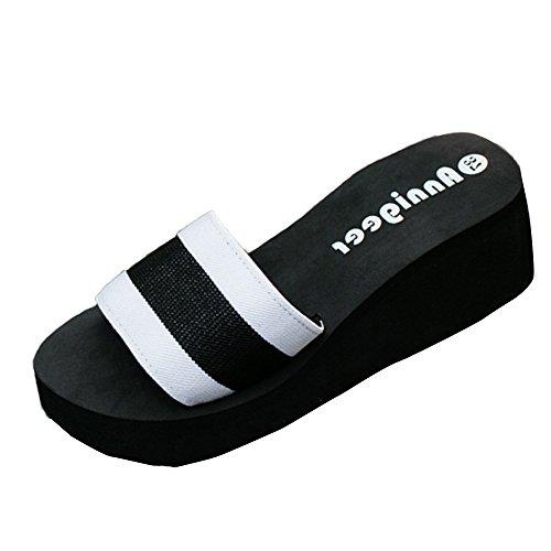 Pantoffel Cord-Slipper Arbeits-Pantoffeln Badelatschen Sommerschuhe Flipflop Flip Flop Badeschlappen Pool Schuhe Slipper Römersandalen Sandalette (40,Weiß)