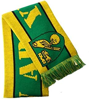NORWICH CITY FC Official Yellow Army Home Style Design Scarf