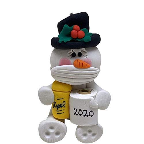 PHLPS Adorno de Navidad 2020 Adornos de Animales con Lindo Animal Supervivencia Colgante Ornamento Decoración de Cubiertas DE LA Cara DE Objetivo Y Mantenimiento Papel higiénico (Color : C)