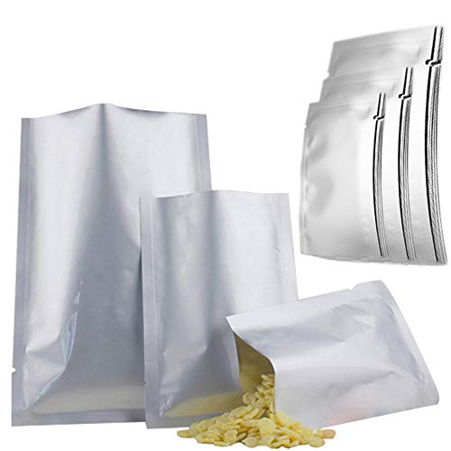 Conprasim 30pcs 3 Sizes Mylar bags for food storage, Mylar Aluminum Foil Flat Heat Sealing Bags Vacuum Pouch for Long Term Food Coffee Tea Beans Storage (4 mil 5 x 7 Inch, 6 x 9 Inch, 8 x 11 Inch)