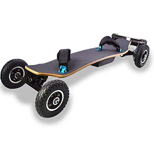 WXDP Cruiser Pro Skateboard,Offroad Elektro-Skateboard, Fernbedienung Mountain Motorized 4 Wheels Dual Motor Longboards Skateboard 40 km/h Langstrecken-Skateboard