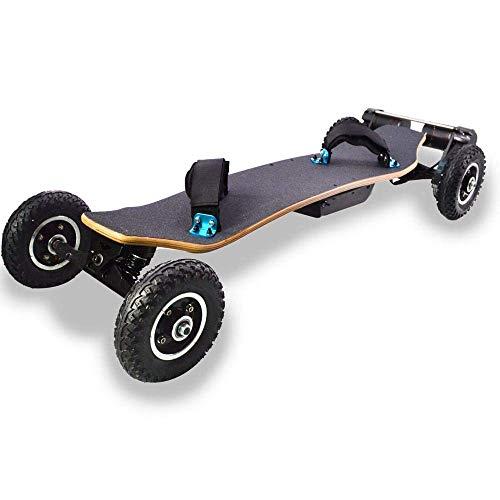 WXDP Cruiser Pro Skateboard,Offroad Elektro-Skateboard, Fernbedienung Mountain Motorized 4 Wheels Dual Motor Longboards Skateboard 40 km/h Langstrecken-Skateboard