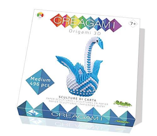 Creativa Mente Creagami 78774 Origami 3D - Cisne para origami (496 piezas)