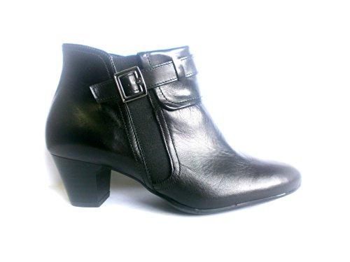 Turm-Schuh Damen Stiefelette, schwarz, echt Leder, gefüttert, (3 1/2)