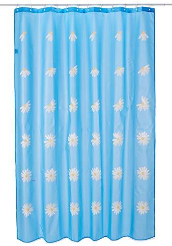 Spirella Textilvorhang Anna himmelblau 180 x 200 1204661, weiß, Estandar