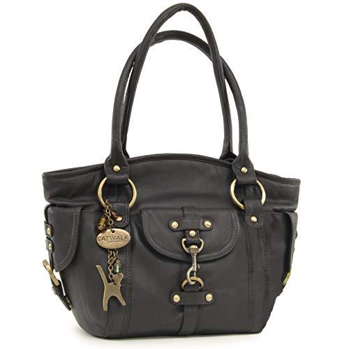 Catwalk Collection Handbags - Cuir Véritable - Sac...