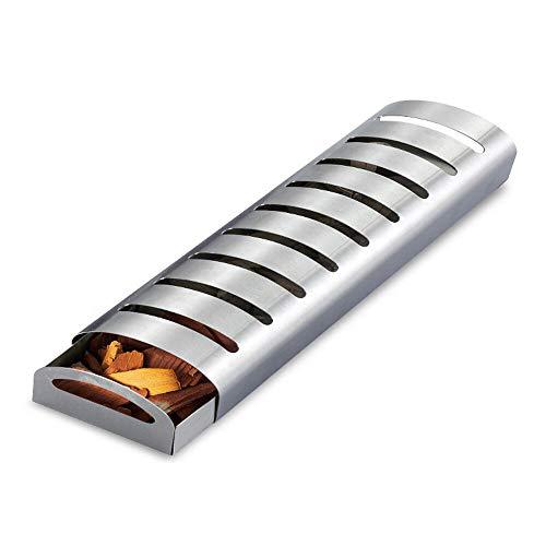 FEIYI Kochgeschirr Edelstahl Multifunktions BBQ Smoker Box Outdoor Camping Grill Backgeschirr für Gasgrill Smoker