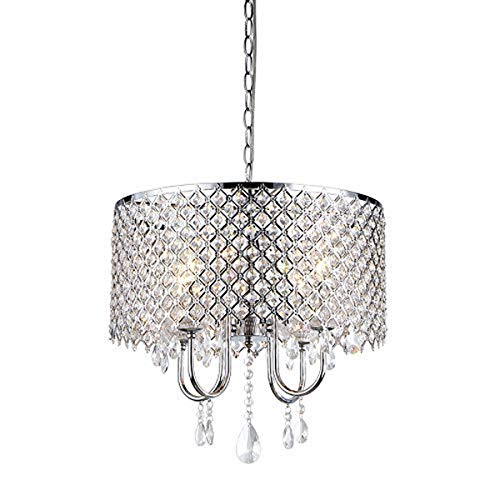 Whse of Tiffany RL5633 Deluxe Crystal Chandelier, 9  x 17  x 17 , Silver