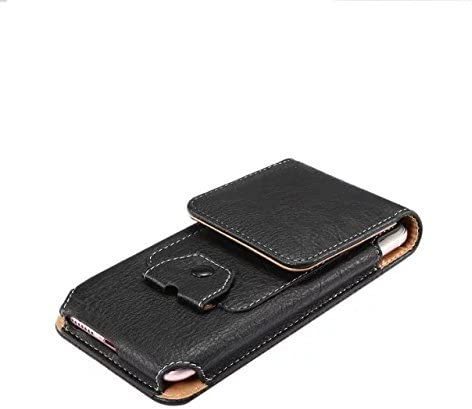 Premium PU Leather Vertical Case Belt Holster with Earphone Holder for Samsung Galaxy S9 Plus / S9 Active/Note 9 / Motorola Moto G6 Plus / G6 Play / E5 Plus / Z3 Play/Huawei Mate 20 Lite (Black)