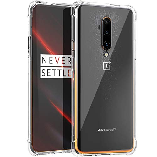 Osophter for Oneplus 7T Pro Case Clear Transparent Reinforced Corners TPU Shock-Absorption Flexible Cell Phone Cover for One Plus 7T Pro 5G McLaren (Clear)