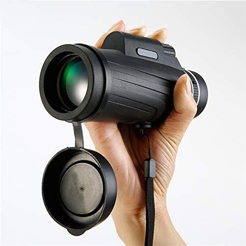 Monoculares de la visión móvil de la visión de la noche de baja luz de gran ángulo de alta definición, 12 × 50 veces la cámara de la cámara que mira la caza de la caza que caminan camping gafas de tur