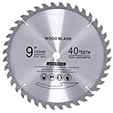 9 inch Table Saw Blade 5/8 Arbor Circular Saw Blade 40 Teeth fit Common Brush Cutter Trimmer Weed Eater Blade for Wooden