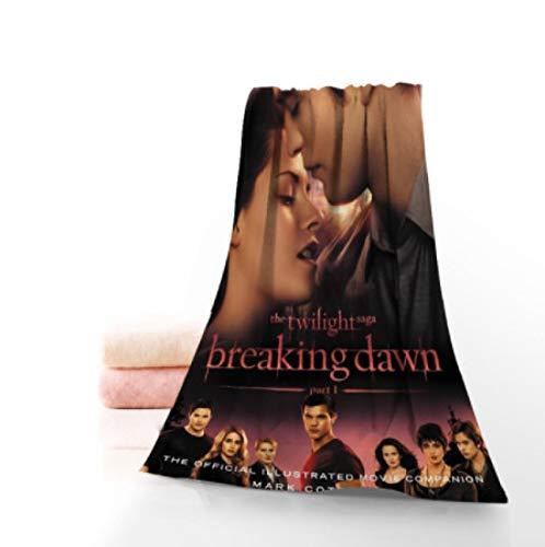 chinawh Das Twilight Saga Breaking Dawn TV-Handtuch Mikrofasertuch beliebtes Badetuch 70x140 Handtuch Bad