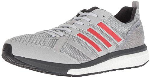 adidas Adizero Tempo 9 - Tenis de correr para hombre, gris (Gris/Rojo Hi-res/Carbono), 40.5 EU