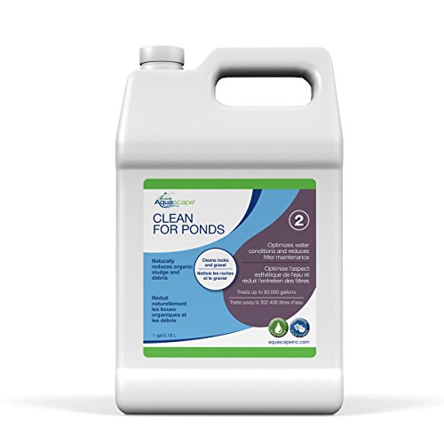 Aquascape CLEAN Water Treatment for Koi and Fish Ponds, Optimize Water Clearity and Quality, Easy To Use, Powerful Blend of Heterotrophic Bacteria, 1 gallon / 3.78 L  96064