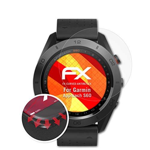 atFoliX Schutzfolie kompatibel mit Garmin Approach S60 Folie, entspiegelnde & Flexible FX Bildschirmschutzfolie (3X)