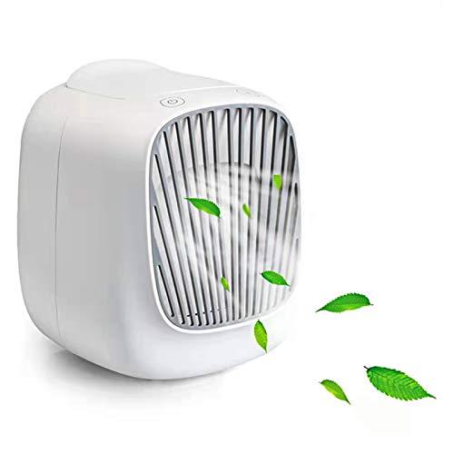 Enfriador de aire portátil, ventilador de aire acondicionado evaporativo personal, 3 velocidades+enfriamiento rápido+USB, para oficina, hogar, dormitorio y camping, regalos de cuidado de verano