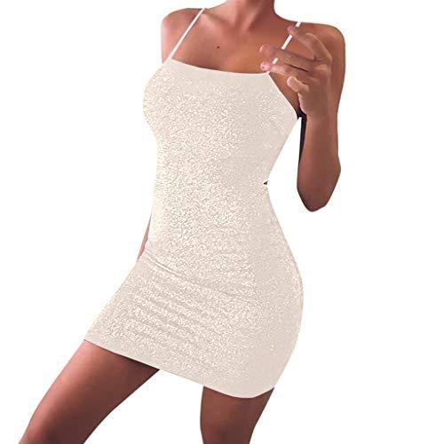 Elecenty Damen Rundhals Maxikleid,Bodycon Partykleid Drucken Sommerkleid Schulterfrei Kurzarm Mädchen Kleider Frauen Kleid Kleidung Abendkleider Knielang Cocktailkleider (S, Blau)