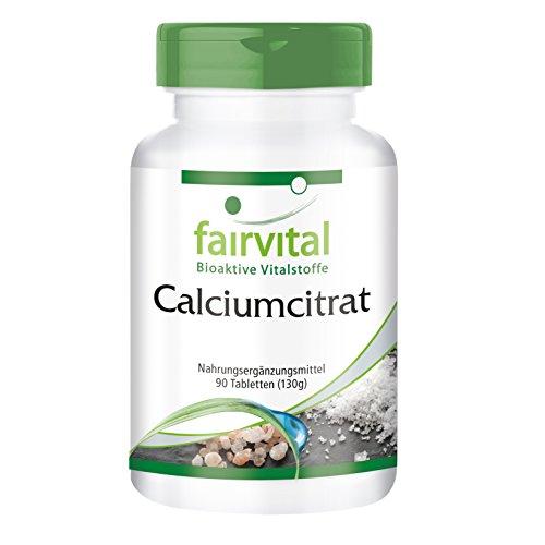 Calciumcitrat Tabletten - 300mg Calcium - HOCHDOSIERT - VEGAN - 90 Tabletten - Reinsubstanz ohne Zusatzstoffe