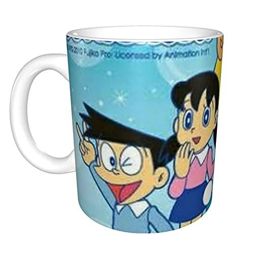 Doraemon - Taza de cerámica de porcelana esmerilada suave, tazas de café, taza de té, para oficina y hogar, regalo de salud