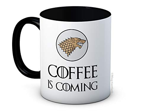 Coffee is Coming - Game of Thrones Parodie - Hochwertige Kaffeetasse Becher