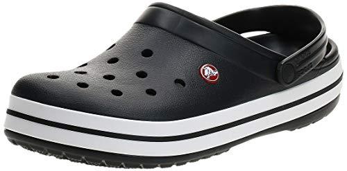 Crocs Unisex-Erwachsene Crocband Clogs, Schwarz (Black/White), 46/47 EU