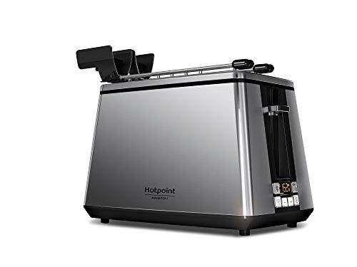 Hotpoint TT 22E UP0 Tostapane Digitale, 2 Fessure, 900 W, Acciaio Inossidabile