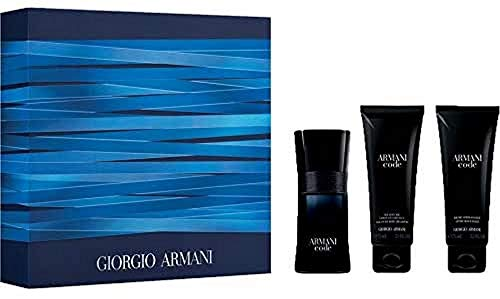 Kit Coffret Armani Code Pour Homme EDT 50Ml + Shower Gel 75Ml + After Shave 75Ml Masculino