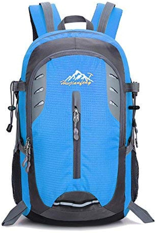 Lounayy Bergsteigen Wasserdichter Rucksack Sport Wandern des Stylisch Outdoorsport Mode 35L Schwarz (Farbe   Blau, Größe   One Größe)