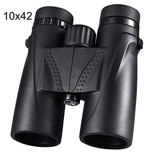 10X42 Chasse Waterproof Camping Professionnel Télescope Zoom Optique BAK4 Prisme Jumelles Bracelet Noir