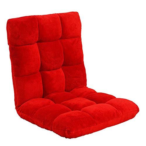 BGROEST Lehrstuhl für Kinder und Erwachsene Tatami Chair Back Ischias Entlastung Taillenstützsitz Sitzkissen Meditationsstuhl (Farbe : Rot, Größe : 55 * 115 * 11cm)