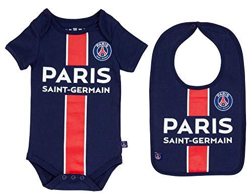 Paris Saint Germain Body + slabbetje voor baby's, officiële collectie