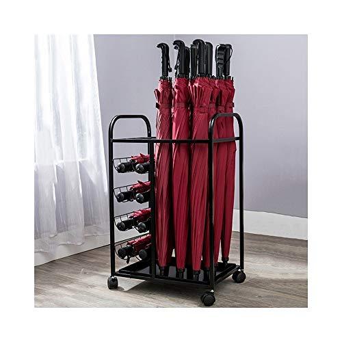 Stockage debout Rayonnage de stockage pour parapluie/hall d'hôtel multifonction Rayonnage de stockage européen pour parapluie (Color : A)