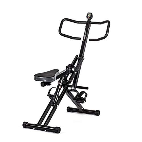 TechFit Máquina de Ejercicios AllCrunch, Bicicleta Doble, Entrenador de Ejercicios de Entrenamiento Corporal Total, Plegable, para Tonificar Piernas, Espalda, Brazos, Glúteos y Abdomen