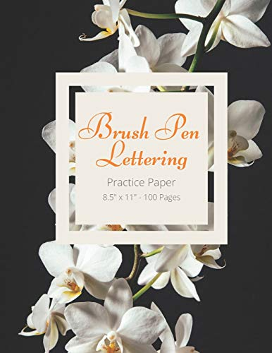 Brush Pen Lettering Practice Paper Book For Calligraphy and Hand Lettering: 8.5
