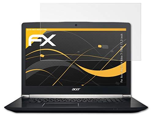 atFolix Panzerfolie kompatibel mit Acer Aspire V Nitro 7-793G 17,3 inch Schutzfolie, entspiegelnde & stoßdämpfende FX Folie (2X)