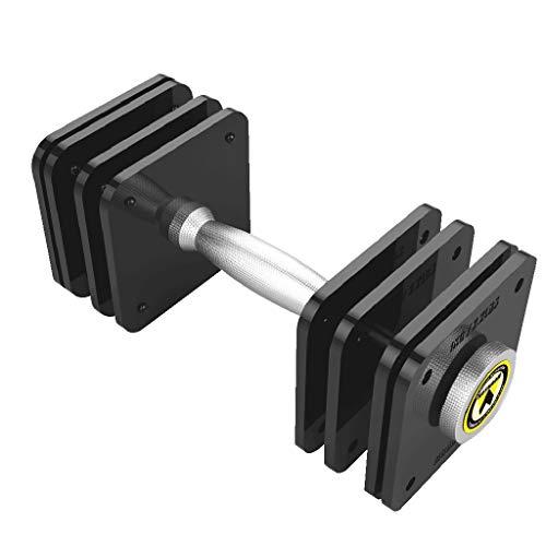 Mancuernas De Acero Puro para El Hogar Juego 20 Kg Ajustable con Revestimiento Músculos del Brazo De Entrenamiento Función Integral Acero Puro