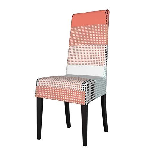 2 fundas elásticas para silla para comedor, diseño retro de rejilla de México, lavables, para decoración de Navidad, ceremonias, banquetes, bodas, fiestas, comedores.