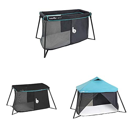 Babymoov Reisebett Naos inkl. Moskitonetz & Dach mit UV-Schutz