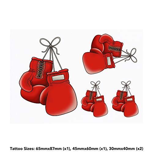 Azeeda 4 x 'Boxhandschuhe' Temporäre Tätowierungen (TO00015017)