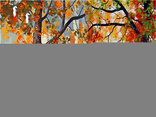Pintura al óleo digital diy Caballos bajo el arbol Pintar por números para niños Adultos Kit de Pintura al óleo DIY Principiante 40X50cm Without Frame