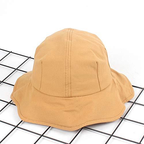 geiqianjiumai Nieuwe wilde lotus blad effen kleur wastafel cap licht board dome hoed vrouwelijke vouwvizier visser hoed