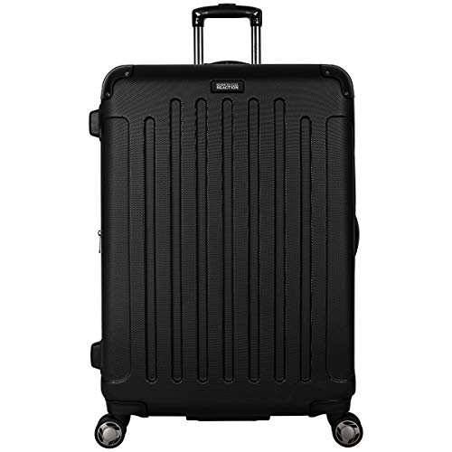 """Kenneth Cole REACTION Renegade 28"""" Lightweight Hardside Expandable 8-Wheel Spinner Checked Luggage, Black, inch"""