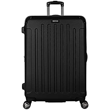 Kenneth Cole REACTION Renegade 28  Lightweight Hardside Expandable 8-Wheel Spinner Checked Luggage, Black