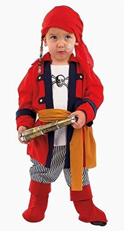 Costume autonevale pirata bebè travestimento autonevale htuttioween cosplay neonato giacca con camicia pantaloni copristivali fazzoletto costume bambino a da vestire sotto pirata dei mari beana (1 anno)