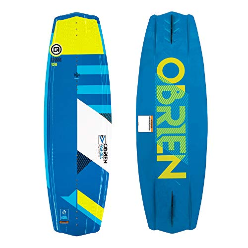 O'Brien Valhalla 143 Centimeter Boarding Boating Lake Water Wakeboard Package & Clutch 10-14 Boot Bindings