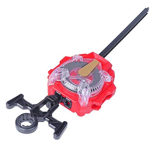 Right/Left-Spin Battling String Launcher Sparking Bey Launcher(Red)