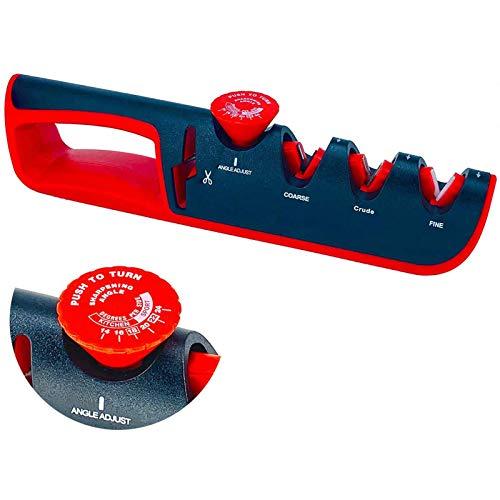 AOUVIK Kitchen Knife Sharpener, Blade Sharpening Tool, Non-slip Ergonomic Design Steel Knife, Mini Sharpening Tool (2Pcs)