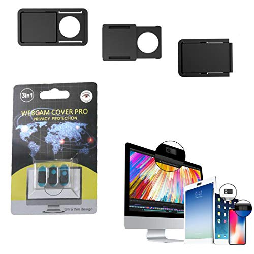 3 -Pack Webcam Cover, Protect Your Privacy and Security,Webcam Cover Slide for Laptop, MacBook, PC, Cell Phone and More Accessories