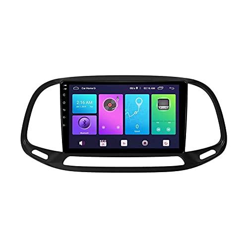 9 Pulgadas Touchscreen Car Estéreo GPS Navegación Para Fiat Doblo 2015-2019 Auto Multimedia Player Video SAT NAV FM Radio Receptor Con Wifi Bluetooth Mirrorlink DSP SWC USB,4 core 4g+wifi: 2+32gb